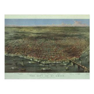 Carte Postale La ville de St Louis Missouri à partir de 1874