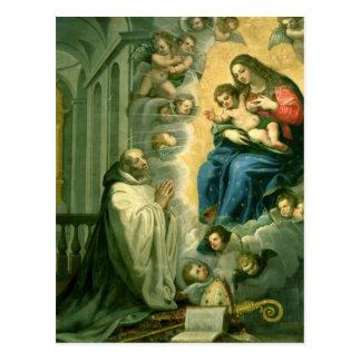 Carte Postale La vision de St Bernard, 1634