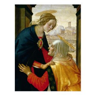 Carte Postale La visite, 1491