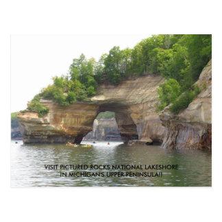 Carte Postale La visite décrite bascule la rive d'un lac
