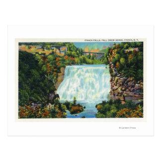 Carte Postale La vue de gorge de crique de chute, Ithaca tombe