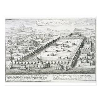 Carte Postale La vue de Mecque, de 'einer d'Entwurf historischen
