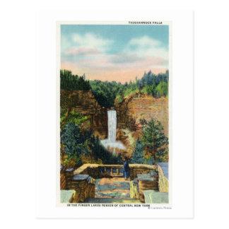 Carte Postale La vue de Taughannock tombe # 2