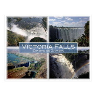Carte Postale La Zambie de la ZM - Zimbabwe - chutes Victoria -