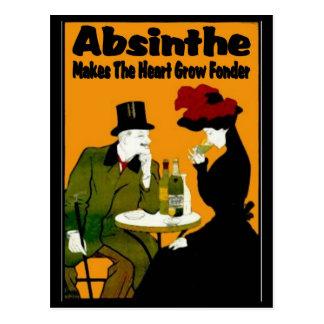 Carte Postale L'absinthe fait le coeur se développent plus