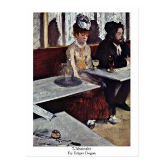 Carte Postale L'Absinthe par Edgar Degas