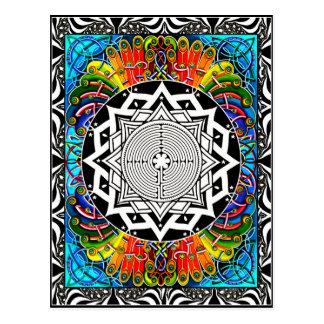 Carte Postale Labyrinthe, le chemin de moindre résistance