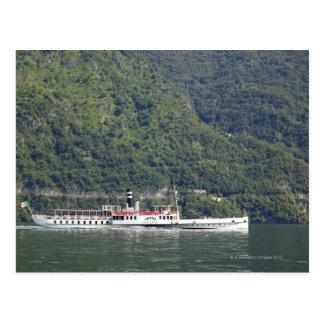 Carte Postale Lac Como, ferry-boat