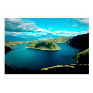 Carte Postale Lac de cratère de volcan de paradis