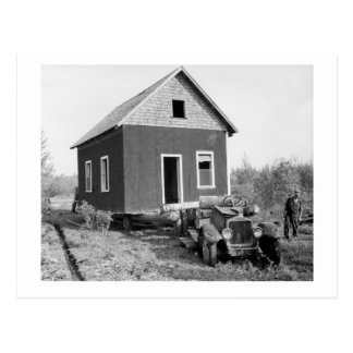 Carte Postale Lac de la caravane résidentielle en bois, les