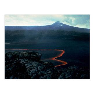 Carte Postale Lac lava et Pu'u O'o à l'arrière-plan, grande île,
