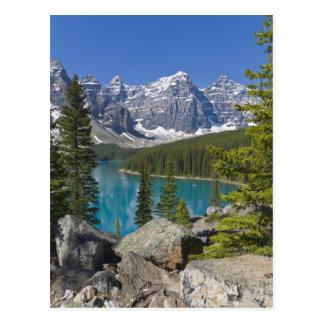 Carte Postale Lac moraine, Canadien les Rocheuses, Alberta,