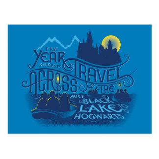 Carte Postale Lac noir harry Potter | à Hogwarts