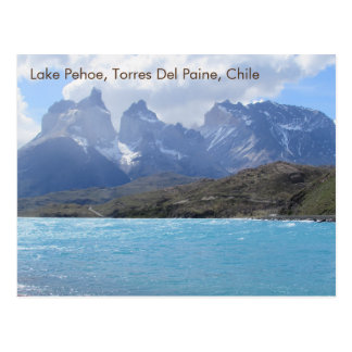 Carte Postale Lac Pehoe, Torres Del Paine, Chili