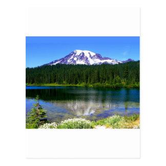 Carte Postale Lac reflection, le mont Rainier, WA, Etats-Unis