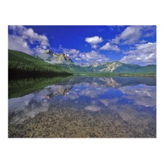 Carte Postale Lac stanley dans les montagnes de dent de scie de