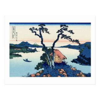 Carte Postale Lac Suwa dans la province de Shinano