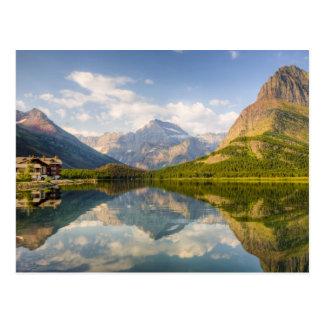 Carte Postale Lac Swiftcurrent avec des beaucoup hôtel de