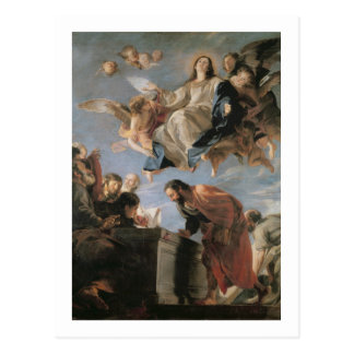 Carte Postale L'acceptation de la Vierge, 1673 (huile sur la
