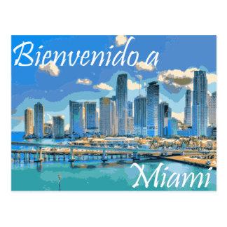 Carte Postale L'accueil à la peinture espagnole de Miami a