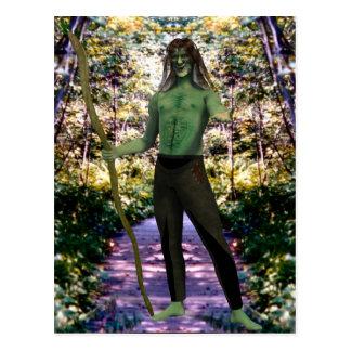 Carte Postale L'accueil d'homme vert
