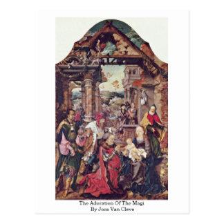 Carte Postale L'adoration des Magi par Joos van Cleve