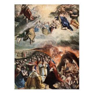 Carte Postale L'adoration du nom de Jésus par El Greco