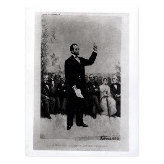 Carte Postale L'adresse de Lincoln à Gettysburg, 1895