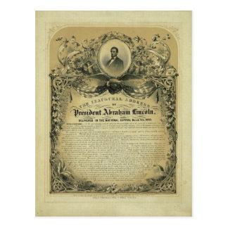 Carte Postale L'adresse inaugurale du Président Abraham Lincoln