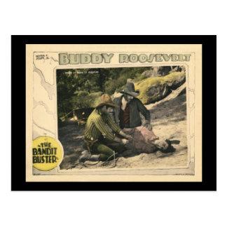 Carte Postale L'affiche de film silencieux vintage du type 1926