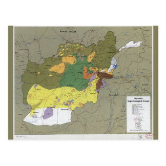 Carte Postale L'Afghanistan groupes insurgés importants Map