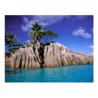 Carte Postale L'Afrique, Seychelles, île de Digue de La. Granit