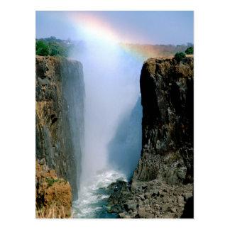 Carte Postale L'Afrique, Zambie, parc national des chutes