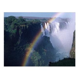 Carte Postale L'Afrique, Zimbabwe. Les chutes Victoria