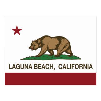 Carte Postale Laguna Beach de drapeau d'état de la Californie
