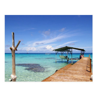 Carte Postale Lagune bleue chez le Tuamotus, Polynésie française