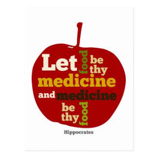 Carte Postale Laissez la nourriture être thy médecine APPLE