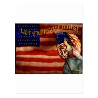 Carte Postale Laissez l'anneau de liberté
