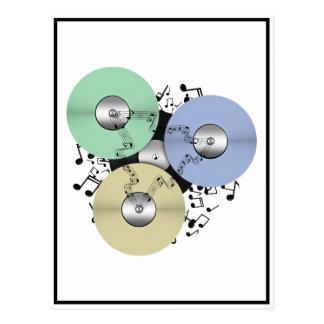 Carte Postale Laissez l'écoulement de musique (bobine à bobine