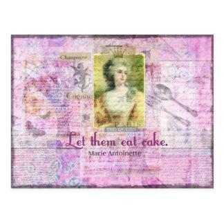 Carte Postale Laissez-les manger le gâteau - ART de citation de