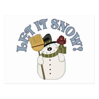 Carte Postale Laissez lui neiger