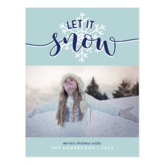 Carte Postale Laissez lui neiger ! Photo de vacances