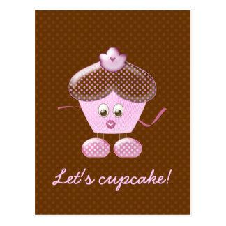 Carte Postale laissez-nous petit gâteau !