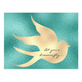 Carte Postale Laissez votre oiseau vert en bon état de
