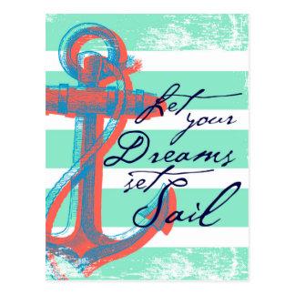 Carte Postale Laissez votre voile réglée par rêves