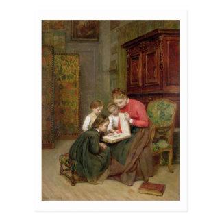 Carte Postale L'album de famille, 1869 (huile sur la toile)