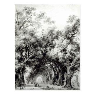 Carte Postale L'allée louche, c.1773-74