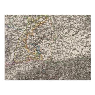 Carte Postale L'Allemagne et la Suisse du sud-ouest