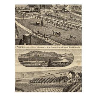 Carte Postale Lame de harnais et Guerne avec la résidence de CA