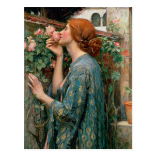 Carte Postale L'âme du rose, 1908